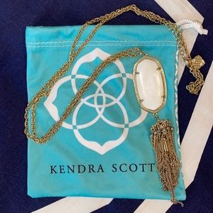 White and Gold Kendra Scott Rayne Necklace!